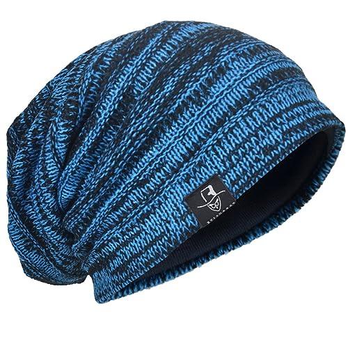 787f707fb78 Men s Knit Beanie Slouch Baggy Skull Cap Vintage Long Hip-hop Winter Hat