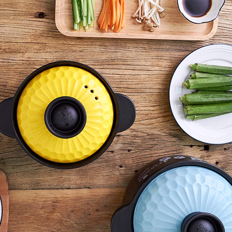 Yxxc Casserole Stew Pot High Temperature Resistance Health Pot Ceramic Glaze Pot Glaze Fire Soup Pot Yellow