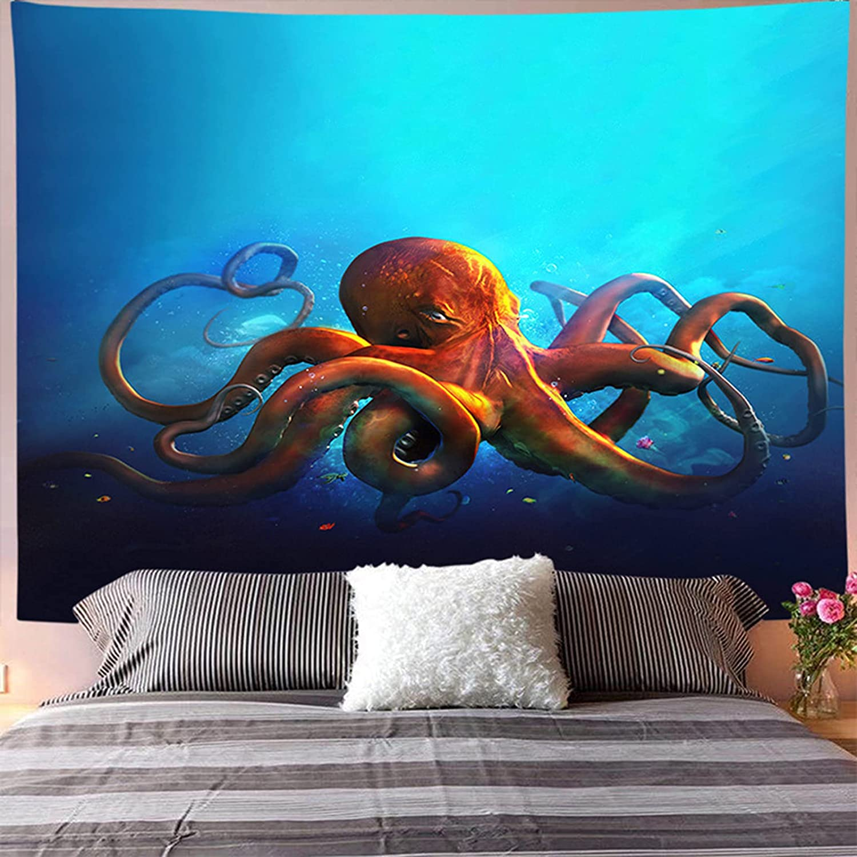 LTNT Trippy Jellyfish Tapestry Ha In a popularity Wall Sea Animal Max 82% OFF
