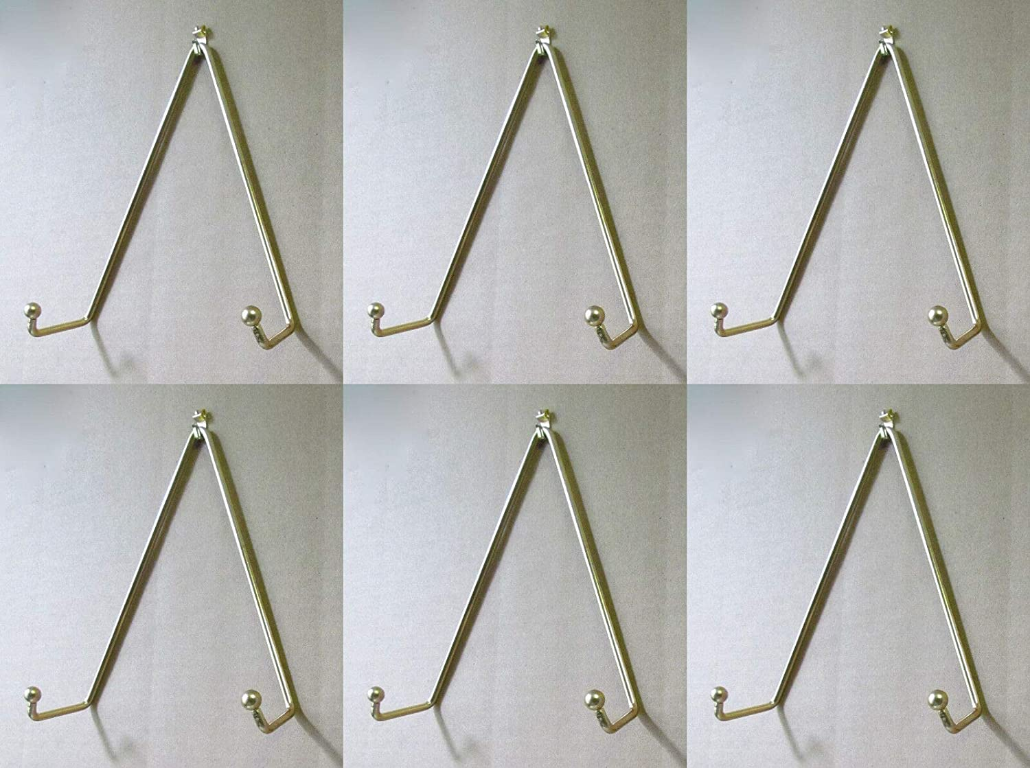 Brass Set of wholesale 6 Plate Hangers Displays Max 80% OFF Size Wall Plates t on 11