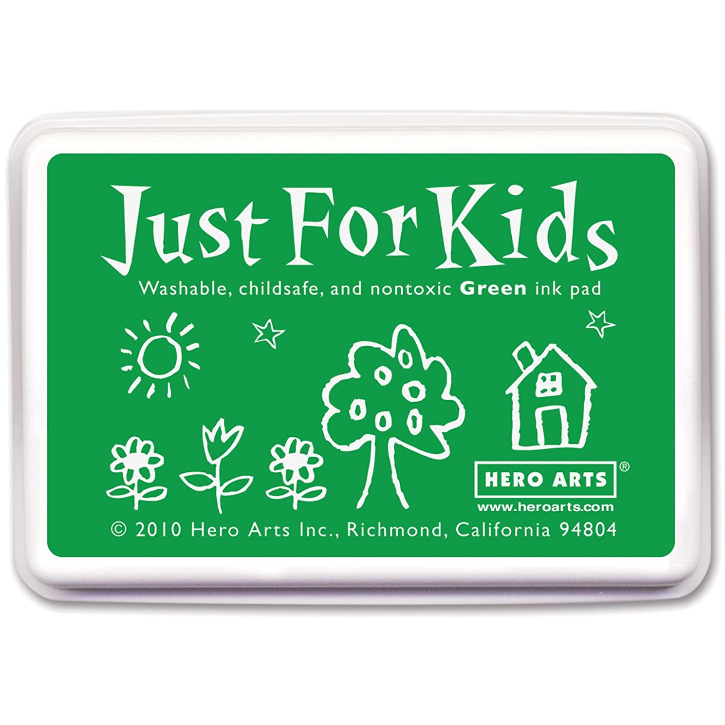 Hero Arts Just For Kids CS102 Washable Ink Pad for Rubber Stamps - Green