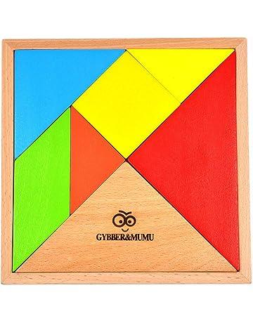 7a736eb8b016c GYBBER MUMU タングラム パズル 赤ちゃん 幼児のおもちゃ 木製 知恵の板 知恵パズル 図形モザイクパズル