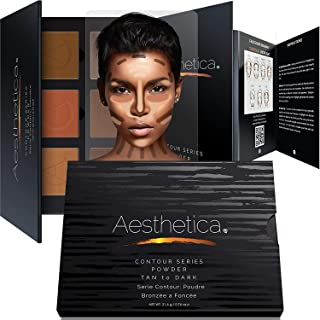 Aesthetica Contour Series - Tan to Dark Powder Contour Kit/Contouring and Highlighting Makeup Palette