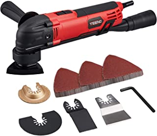 Teeno Multi-Function Oscillating Tool Kit with 35Pcs Accessories for Sanding, Cutting and scraping, 15000-23000RPM Corded ...