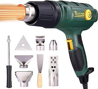 comprar comparacion Pistola de aire caliente TECCPO 2000W, 50-650 ℃ alta potencia, 8 accesorios de boquilla, calentamiento rápido en segundos ...