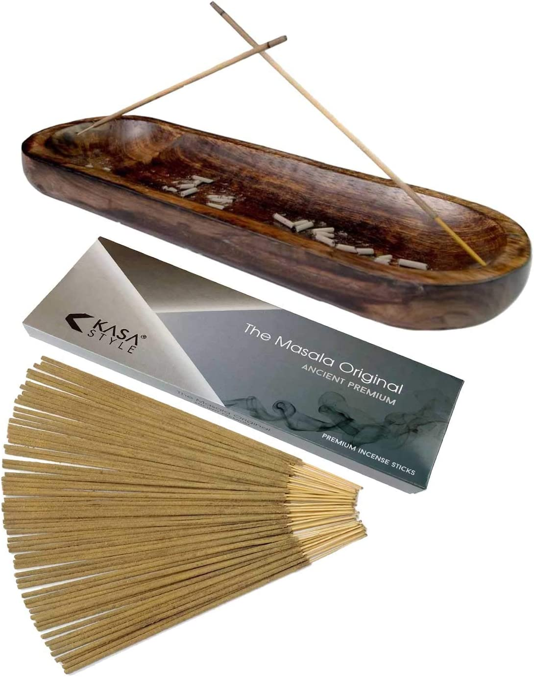Kasa Style Double Incense Burner with 100gr Masala Premium Incen