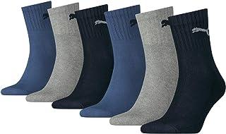 Puma, Calcetines deportivos cortos unisex, pack de 6