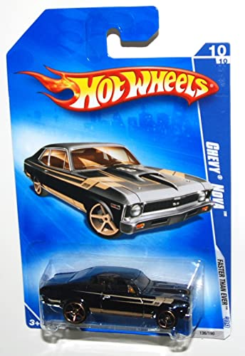 Hot Wheels Chevy Nova (1968) 2009-136 Faster Than Ever schwarz 1 64 Scale by Hot Wheels
