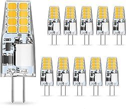 AMBOTHER G4 Ledlampen, 3 W, vervangt halogeenlampen van 35 W, warm wit, 12 V AC/DC ledlamp, 350 lumen, flikkert niet, niet...