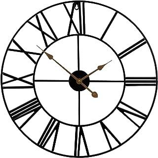 Sorbus Wall Clock, 24? Round Oversized Centurian Roman Numeral Style Home Décor Analog Metal Clock (Black)