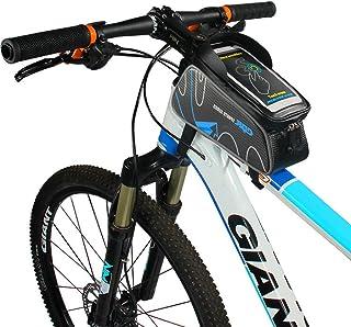 Florally Väska för cykelstyre, cykelram övre rörrem fäste mountain road cykling tub vattentät främre förvaring korsstång c...