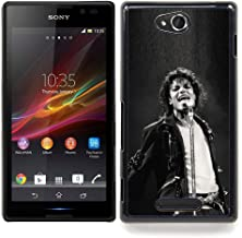 Snap-on Series Plastic Back Case Shell Skin Cover for SONY Xperia C S39H C2305 , ( MJ Jackson Super Star )