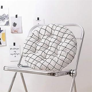 SWECOMZE 2 cojines redondos para silla – 40/45/50 cm – Cojín de asiento para oficina, suelo, balcón, jardín, silla, para interior y exterior (estilo N, 50 x 50 cm)