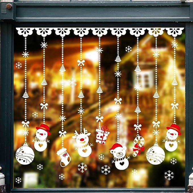 759 opinioni per Natale Vetrofanie Rimovibile Adesivi Murali Fai da te Finestra Decorazione