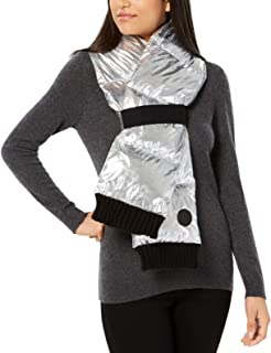 DKNY Women's Quilted Puffer Scarf (Silver)