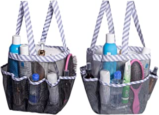 Attmu Portable Mesh Shower Caddy with 8 Storage Pockets, Quick Dry Waterproof Shower Tote Bag Oxford Hanging Toiletry and ...