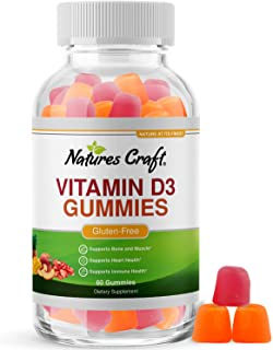 Vitamin D3 Immune Support Gummies - Vitamin D 2000 IU Adult Gummy Vitamins for Bone Strength Heart Health and Immune Syste...