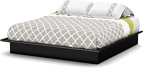 South Shore Step One Platform Bed with Storage, Full 54-Inch, Pure Black