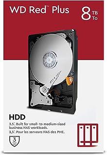 "WD Red Plus 8 To NAS 3,5"" Disque dur interne - Classe 7200 RPM, SATA 6 Gb/s, CMR, 256 Mo en cache"