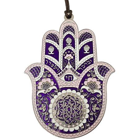 Good luck symbol Housewarming gift black ceramic Ceramic hand of Fatima Music art Jewish decor, Hamsa wall art decor