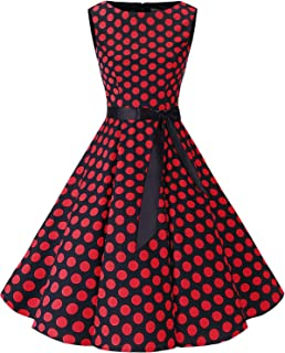 Bbonlinedress Women's Retro 1950s Vintage Swing Rockabilly Party Cocktail Dress