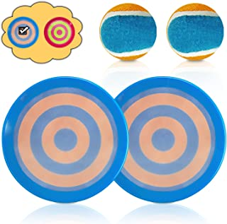 Leesgel Kids Outdoor Games for Adults and Family, Beach Toys, Toss and Catch Ball Set Kids Outdoor Toys (Bullseye Design, ...