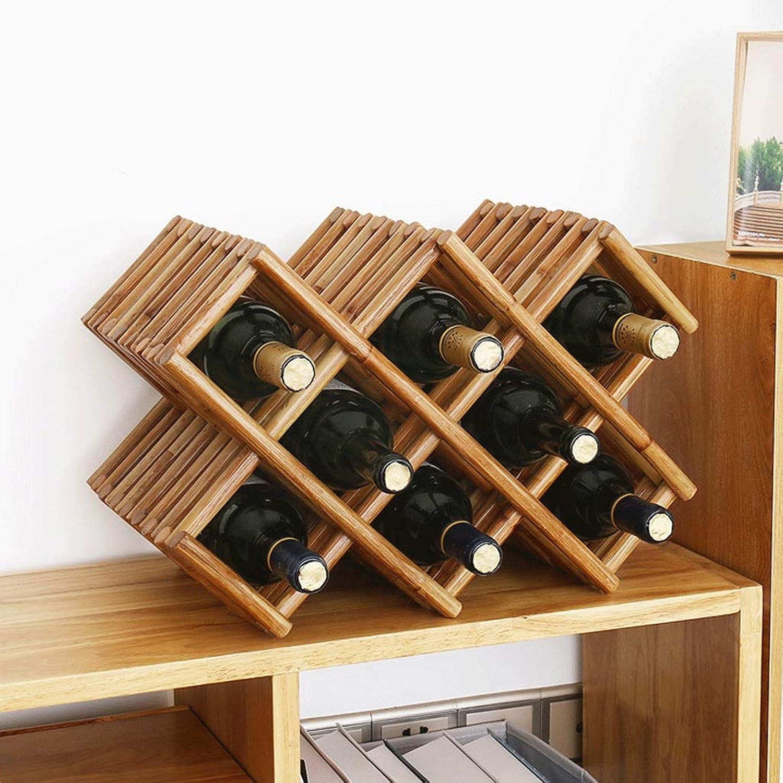promociones de descuento Hhoro Estante de Almacenamiento verdeical de Madera Madera Madera Maciza Great Wine Rack (Color  2) (Color   2, Tamaño   -)  calidad de primera clase