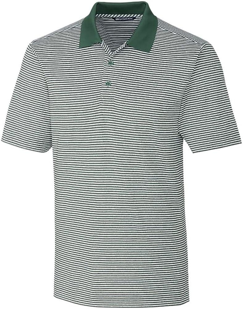Cutter & Buck BCK00113 Men's Big and Tall Forge Polo Tonal Stripe Shirt, Hunter - 2XT