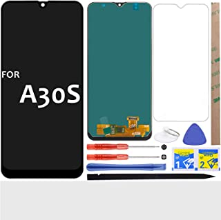 A30S LCD شاشة بديلة تعمل باللمس رقمية (أسود) لسامسونج جالاكسي A30S A307 2019 SM-A307F SM-A307FN SM-A307G SM-A307GN 6.4 بوصة