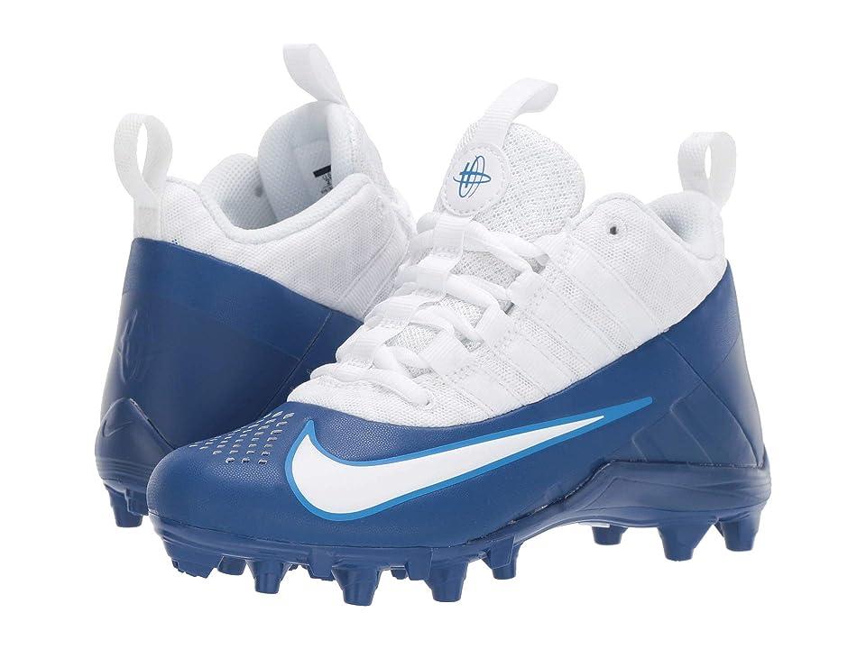 Nike Kids Alpha Huarache 6 Lacrosse (Little Kid/Big Kid) (Gym Blue/White/Photo Blue) Kids Shoes