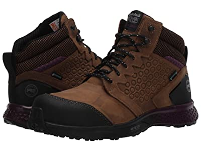 Timberland PRO Reaxion Mid Composite Safety Toe Waterproof (Brown/Purple) Women