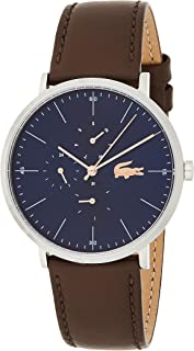 Lacoste Mens Quartz Watch, Chronograph Display and Leather Strap 2010976