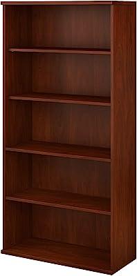 Bush Business Furniture SCB136HC-Z 5 Shelf Bookcase, Hansen Cherry