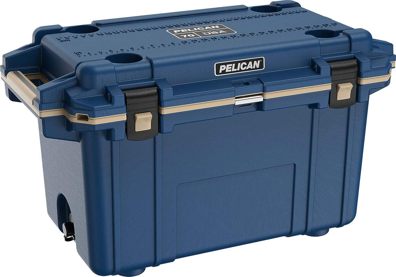 Pelican Elite 70 Quart Cooler (Pacific blueee Coyote)