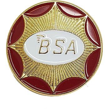 Red BSA Motorcycle Enamel Pin Badge Transportation