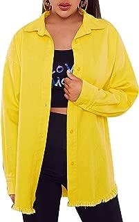 Verdusa Women's Single Breasted Pocket Front Color Block Corduroy Jacket