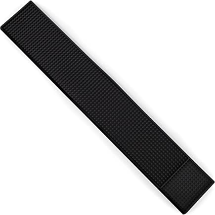24 x 4 Rubber Bar Spill Mat - Non-Slip,  No-Spill Drink Service Mat for Bar,  Restaurant,  Home Counters by Cocktailor