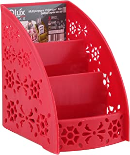 Q-Lux Multibox Mini Organizer for Office, School, Home Supplies, Storage Holder, High Capacity L-00687 - Red