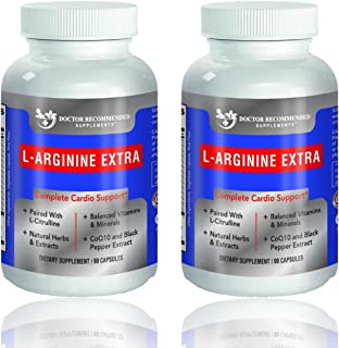 Premium L-Arginine 1000 MG Nitric Oxide Formula by Doctor Recommended Supplements - Supports Cardio Health, Nitric Oxide P...