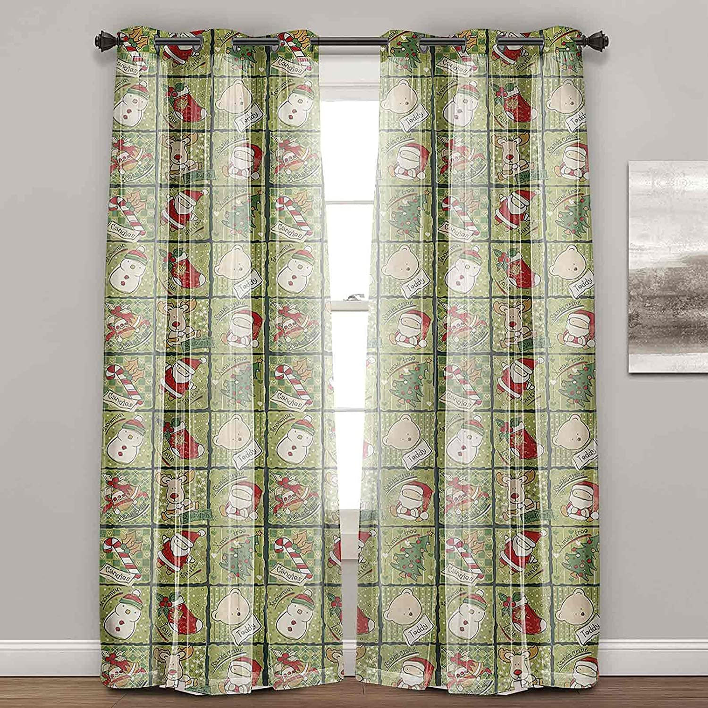 Popular popular Curtains for Living Room Christmas Out Long Beach Mall Bears Block Santa Teddy