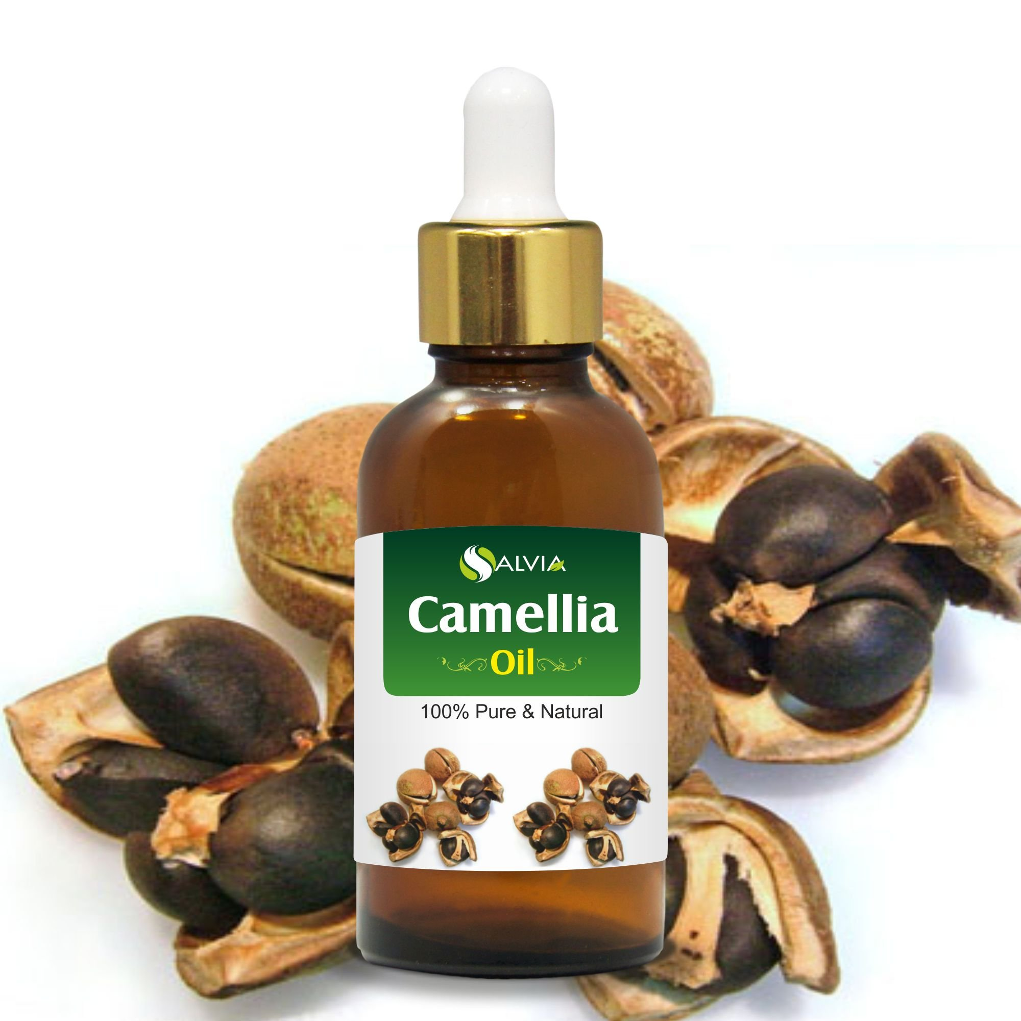 Camellia Oil 100% Natural Pure UNDILUTED Uncut Carrier Oil (15ml Dropper)