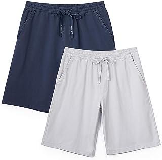 DAVID ARCHY Men's Sleep Shorts Lounge Wear Pajama Pants 2 Pack