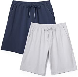 DAVID ARCHY Men's Pyjama Shorts Bottoms, Mens Short Pyjamas Pants, Men's Sleepwear Lounge Wear Shorts Pants Nightwear