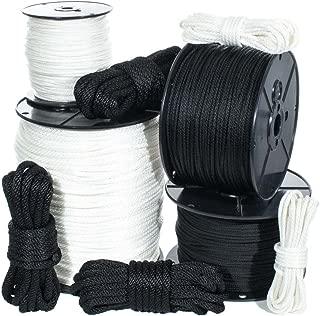 Golberg Solid Braid Nylon Rope - (Black, 5/16 Inch x 10 Feet)