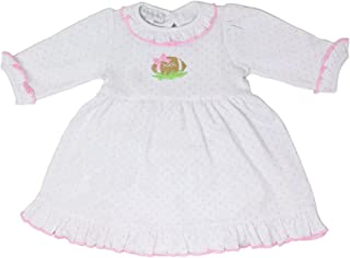 Magnolia Baby Unisex Baby Abby and Adams Classics Collared Gathered Gown White