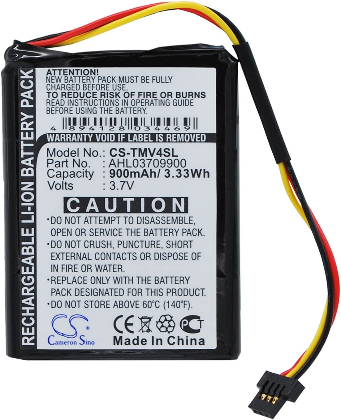 Max 79% OFF Replacement GPS Navigation Save money Battery Part No.AHL03709900 Tomto for
