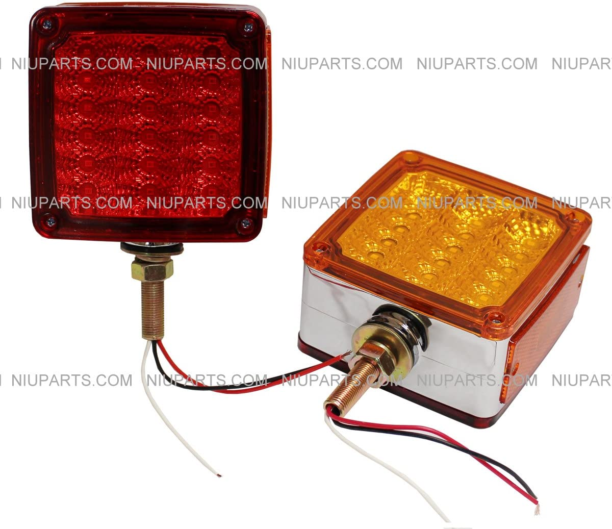 Pedestal Cab Fender Light 39 LED Square Single Face Stud Red A lowest price 2 All items free shipping