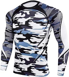 XWLY Men Shirt Men Sweatshirt Slim Fit Elastic Fiber Camouflage Comfortable Breathable Men Sweatshirt Spring Autumn Long S...