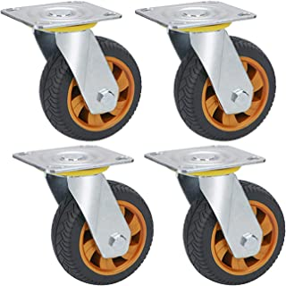 YJJT Industriële vervanging wiel, bovenste plaat Swivel Caster, Kan 360 graden draaien, rustig, flexibel, met stofring en ...