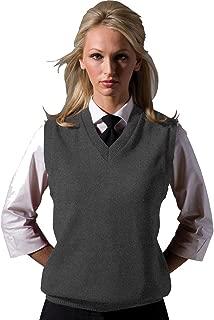 Garment Sleeveless V-Neck Durable Sweater Vest, Heather Grey, Large